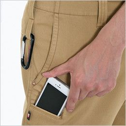 バートル 8033 チノクロスパンツ(綿100%)(男女兼用) Phone収納ポケット