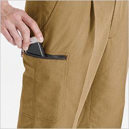 バートル 8052 ヴィンテージソフトツイルワンタックカーゴパンツ(男女兼用) Phone収納ポケット