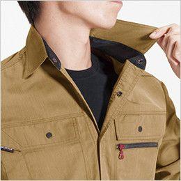 バートル 8063 ヴィンテージライトチノ長袖シャツ(男女兼用) 吸汗ニット