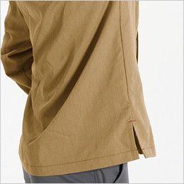 バートル 8063 ヴィンテージライトチノ長袖シャツ(男女兼用) スリット