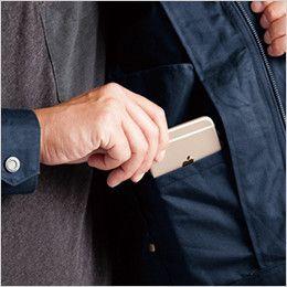 バートル 8101 綿100%ワーカーズツイル長袖ジャケット(男女兼用) 内ポケット