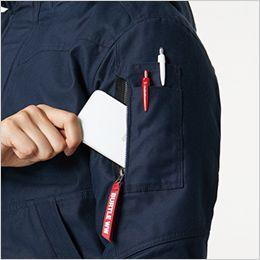 バートル 8210 [秋冬用]ヒータージャケット(大型フード付き)(男女兼用) ペンダブルポケット、ファスナーポケット