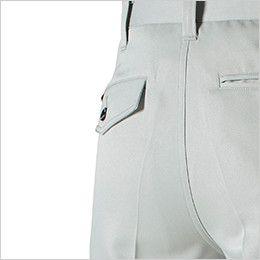 バートル 9003 制電ストレッチツータックパンツ(男女兼用) ピスフラップ(ボタン止め)