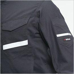 バートル 9091 [春夏用]ストレッチ制電長袖ジャケット(男女兼用) 反射材(リフレクター)