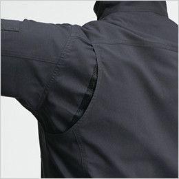 バートル 9091 [春夏用]ストレッチ制電長袖ジャケット(JIS T8118適合)(男女兼用) 背アームノーフォーク(メッシュ)