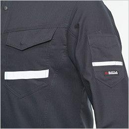 バートル 9095 [春夏用]ストレッチ長袖シャツ(JIS T8118適合)(男女兼用) 反射材(リフレクター)