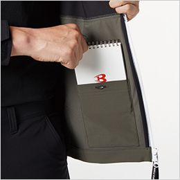 バートル 9505 [秋冬用]4WAYストレッチ パーカージャケット(JIS T8118適合)(男女兼用) 内ポケット(ボタン止め)