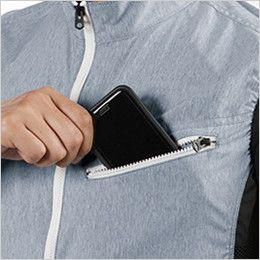 空調服 バートル AC1024 [春夏用]エアークラフト 迷彩ベスト(男女兼用) ポリ100% Phone収納ポケット