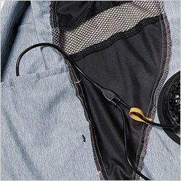 バートル AC1024SET-B エアークラフト 迷彩ベスト(男女兼用) ポリ100% 右・外側ポケットにつながるコードホール