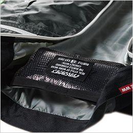 空調服 バートル AC1034 [春夏用]エアークラフト ベスト(男女兼用) ポリエステル100% 通気エアダクトポケット、保冷剤を入れて、より涼しく