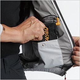 空調服 バートル AC1076 エアークラフト 半袖ブルゾン(男女兼用) バッテリーポケット、ファスナー止め