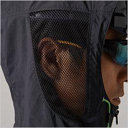 空調服 バートル AC1086 [春夏用]エアークラフト パーカー半袖(男女兼用) ナイロン100% メッシュ構造のフードで涼しい
