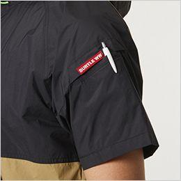 空調服 バートル AC1086 [春夏用]エアークラフト パーカー半袖(男女兼用) ナイロン100% ペン差しポケット