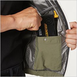空調服 バートル AC1086 [春夏用]エアークラフト パーカー半袖(男女兼用) ナイロン100% バッテリーポケット(ドットボタン止め)