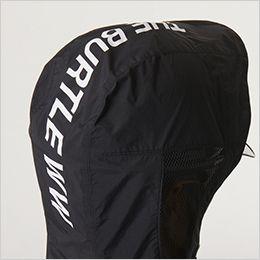 空調服 バートル AC1086SET [春夏用]エアークラフトセット パーカー半袖ブルゾン(男女兼用) ナイロン100% THE BURTLE WWのビッグロゴプリント
