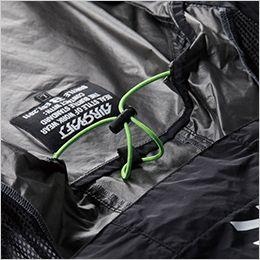 空調服 バートル AC1086SET [春夏用]エアークラフトセット パーカー半袖ブルゾン(男女兼用) ナイロン100% 調節式エアダクト