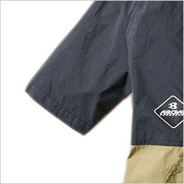 空調服 バートル AC1086SET [春夏用]エアークラフトセット パーカー半袖ブルゾン(男女兼用) ナイロン100% しぼりひも通し穴