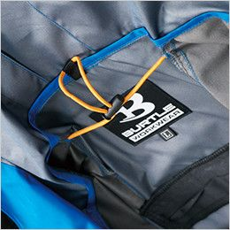 空調服 バートル AC1094 エアークラフト パーカーベスト(男女兼用) 衣服内の空気循環をよくするために風の流れ道を調節します