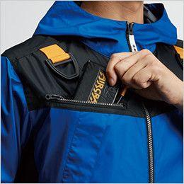 空調服 バートル AC1096 [春夏用]エアークラフト パーカー半袖ジャケット(男女兼用) バッテリー収納ポケット、ファスナー止め、コードホール付き