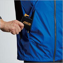 空調服 バートル AC1096 [春夏用]エアークラフト パーカー半袖ジャケット(男女兼用) バッテリー収納ポケット、ファスナー止め※特許取得済