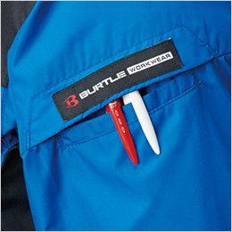 AC1096 バートル エアークラフト パーカー半袖ジャケット(男女兼用) ペン差しポケット