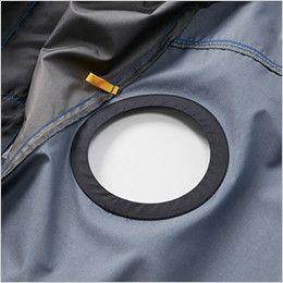 空調服 バートル AC1096 [春夏用]エアークラフト パーカー半袖ジャケット(男女兼用) ファン取付口