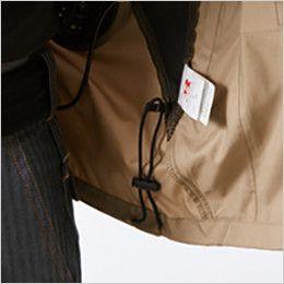 バートル AC1111SET-B エアークラフト 長袖ジャケット(男女兼用) ポリ100% ドローコード