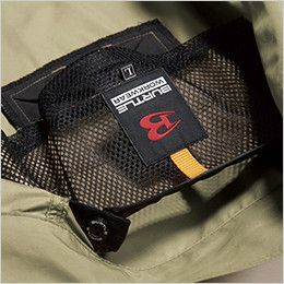 空調服 バートル AC1121 [春夏用]エアークラフト ハーネス対応 長袖ブルゾン(男女兼用) ポリ100% 衣服内の空気の循環を促す、調節式エアダクト