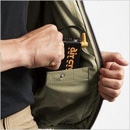空調服 バートル AC1121SET-B エアークラフト ハーネス対応 長袖ブルゾン(男女兼用) ポリ100% バッテリー収納ポケット(ドットボタン止め)