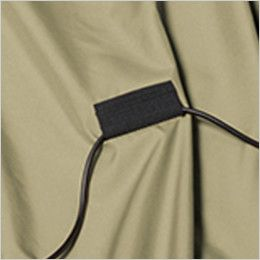 バートル AC1121SET-B エアークラフト ハーネス対応 長袖ブルゾン(男女兼用) ポリ100% コードストッパー(マジックテープ止め)