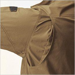 空調服 バートル AC1131 [春夏用]エアークラフト 長袖ブルゾン(男女兼用) 綿100% 背アームノーフォーク