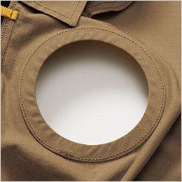 空調服 バートル AC1131 [春夏用]エアークラフト 長袖ブルゾン(男女兼用) 綿100% 背中ファン取付口