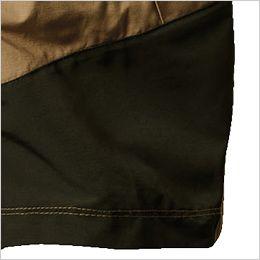 空調服 バートル AC1134SET [春夏用]エアークラフトセット パーカーベスト(男女兼用) 衣服内の空気循環をよくするために風の流れ道を調節します