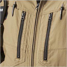 空調服 バートル AC1141SET-B エアークラフト 綿100% ハーネス対応  長袖ブルゾン(男女兼用) デザインファスナー