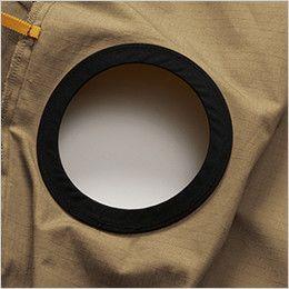 空調服 バートル AC1141SET-B エアークラフト 綿100% ハーネス対応  長袖ブルゾン(男女兼用) 背中ファン取付口