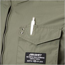 空調服 バートル AC1154SET [春夏用]エアークラフトセット タクティカルベスト(男女兼用) ナイロン100% ペン差しポケット