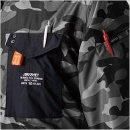 空調服 バートル AC1156 [春夏用]エアークラフト タクティカル半袖ブルゾン(男女兼用) ナイロン100% メッシュ構造のフードで涼しい