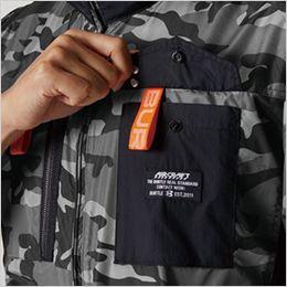 空調服 バートル AC1156 [春夏用]エアークラフト タクティカル半袖ブルゾン(男女兼用) ナイロン100% ペン差しポケット
