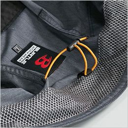 空調服 バートル AC7141 [春夏用]エアークラフト 長袖ブルゾン(男女兼用) 衣服内の空気循環をよくするために風の流れ道を調節します