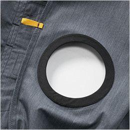 空調服 バートル AC7146 [春夏用]エアークラフト 半袖ブルゾン(男女兼用) ファン取付口