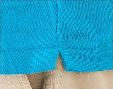 ドライCVCポロシャツ(5.3オンス)(男女兼用) 左右の裾脇 スリット入り