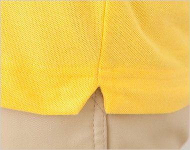 ドライCVCボタンダウンポロシャツ(ポケ無し)(5.3オンス)(男女兼用) スリット入り