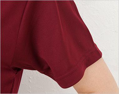 ドライシルキータッチポロシャツ(ポケ無し)(4.7オンス)(男女兼用) 袖部分