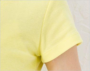 CVCフライスTシャツ(ガールズ)(6.2オンス)(女性用) 袖部分