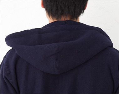 極厚裏起毛 スウェットフルジップパーカー(12.0オンス)(男女兼用) フード