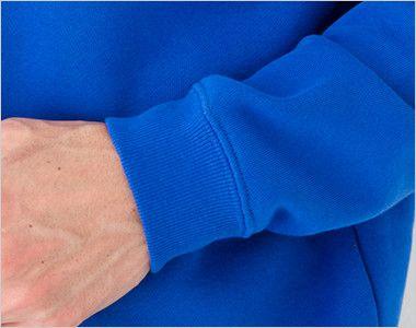 裏起毛 CVC クルーネック スウェット(10.0オンス)(男女兼用) 袖口リブ仕様