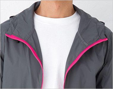 ナイロン フルジップジャケット(男女兼用) 衿部分