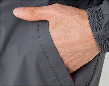 ナイロン フルジップジャケット(男女兼用) ポケット付き