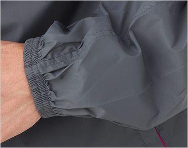 ナイロン フルジップジャケット(男女兼用) リブ仕様