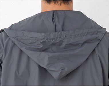 ナイロン フルジップジャケット(男女兼用) フード